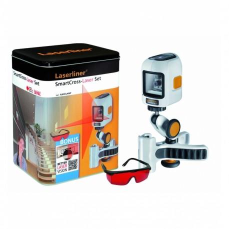 تراز لیزری با خطوط عمود و افق با پایه کلمپی SmartCross-Laser Set
